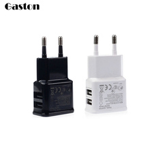 EU US Plug 2 Ports USB Charger 5V 2A Wall AC DC Adapter Mobile Phone Charging Travel Home Adapter For iPhone iPad Samsung 3