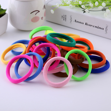 100pcs/lot Girl Candy Color Rubber band Fashion high elastic hair rope ties headband gum girl Hair accessory