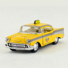 KINSMART 1:40 Vintage Taxi Model Toy, Simulation Alloy Classic Cars For Kids, Pull Back Yellow Taxi, Hot Toys, Brinquedos Gift(China)