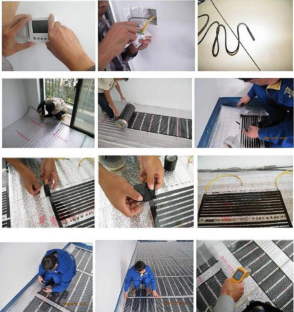 radiant Floor heating film installation(4)