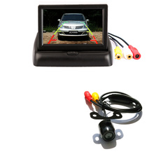 "BYNCG 2In1 Car Parking System Kit 4.3"" TFT LCD Color Rearview Display Monitor + Waterproof Reversing Backup Rear View Camera(China)"
