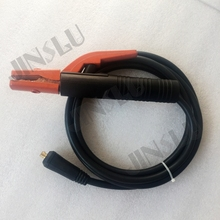 Free shipping 300A Electrode holder Arc welding plug 10-25mm Lead Cable 3 Meter use in welding machine(China)