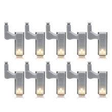 10pcs Universal LED Cabinet Hinge Light Lamp Kitchen Bedroom Living Room Cupboard Wardrobe Closet Inner Sensor Light Hardware(China)