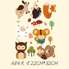 New 10PCS/1Lot Heat Transfer Animals Children Child Cartoon #6   Iron On Patches  DIY Clothes T-shirt Brand  Logo Patch Applied