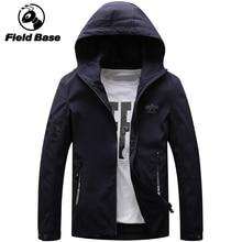 Field Base Men Bomber Jacket Thin Slim Long Sleeve Military Jackets Hooded 2018 Windbreaker Zipper Outwear Army Brand Clothing