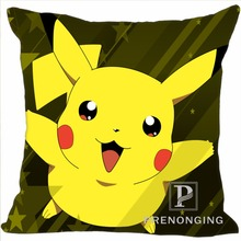 Custom Decorative Pillowcase Pikachu Pokemon Square Zippered Pillow Cover Best Gift 20X20cm,35X35cm(One Side)180117#97