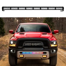 12v Car Emergency light bar 7 flashing modes Led beacon strobe light flash lamp Grill Warning light Police Fireman safety lights