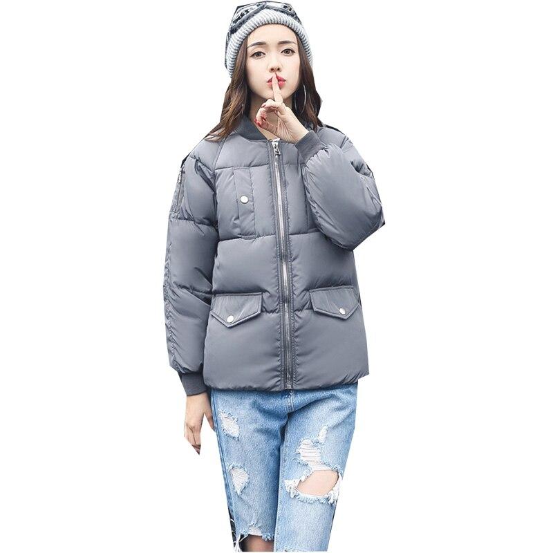 2017 Women Winter Jacket Fashion Solid Wadded jacket Female Coat Women New Slim Warm Down cotton clothing Long sleeve Coat 5L14Îäåæäà è àêñåññóàðû<br><br>