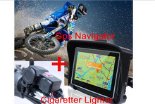 "2017 upgrade 4.3"" Motorcycle GPS Navigation Touchscreen Waterproof IPX7  GPS Navigation Bluetooth 8GB +Motorcycle charger USB"