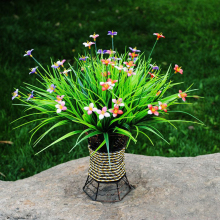 The simulation plant flowers, plastic flowers green grass grass lucky grass decorative flowers