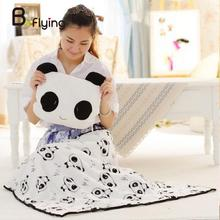 Free Shipping Child Kid Soft Fibre Pattern Giant Panda Bed Sleepy Carpet Cover Blanket(China)