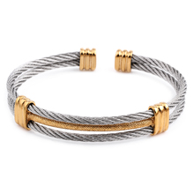 new arrival spring wire line colorful titanium steel bracelet stretch Stainless steel Cable Bangles for women(China)