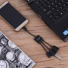 Newest USB OTG Adapter Cable Powerfull Dual USB 2.0 Host OTG Hub Adapter Cable For all Android Phone Samsung Nexus HTC LG SONY