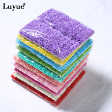 Luyue 144 PCS Artificial Foam Rose Flower DIY Parts Hair Bands Hair Ornaments Decorations Wedding Home Decorations