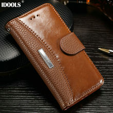 For iPhone 7 Case Leather Wallet Flip Cover Dirt Resistant Mobile Phone Cases for iPhone 7 Plus Bags With Card Holder IDOOLS(China)