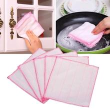 5Pcs/Set Microfiber Cleaning Auto Car Detailing Soft Microfiber Cloths Wash Towel Duster Home Clean 28*28cm A45(China)