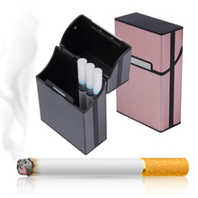 1PC New Aluminum Alloy Cigarette Case Portable Light Cigar Tobacco Holder Pocket Box Storage Container Case High Quality(China)