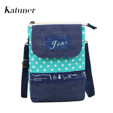 New Multifunctional Dot Women Bag Canvas Mini Crossbody Bags Female Shoulder Bag Purse Ladies Hand Bags Bolso Mujer KB056(China)