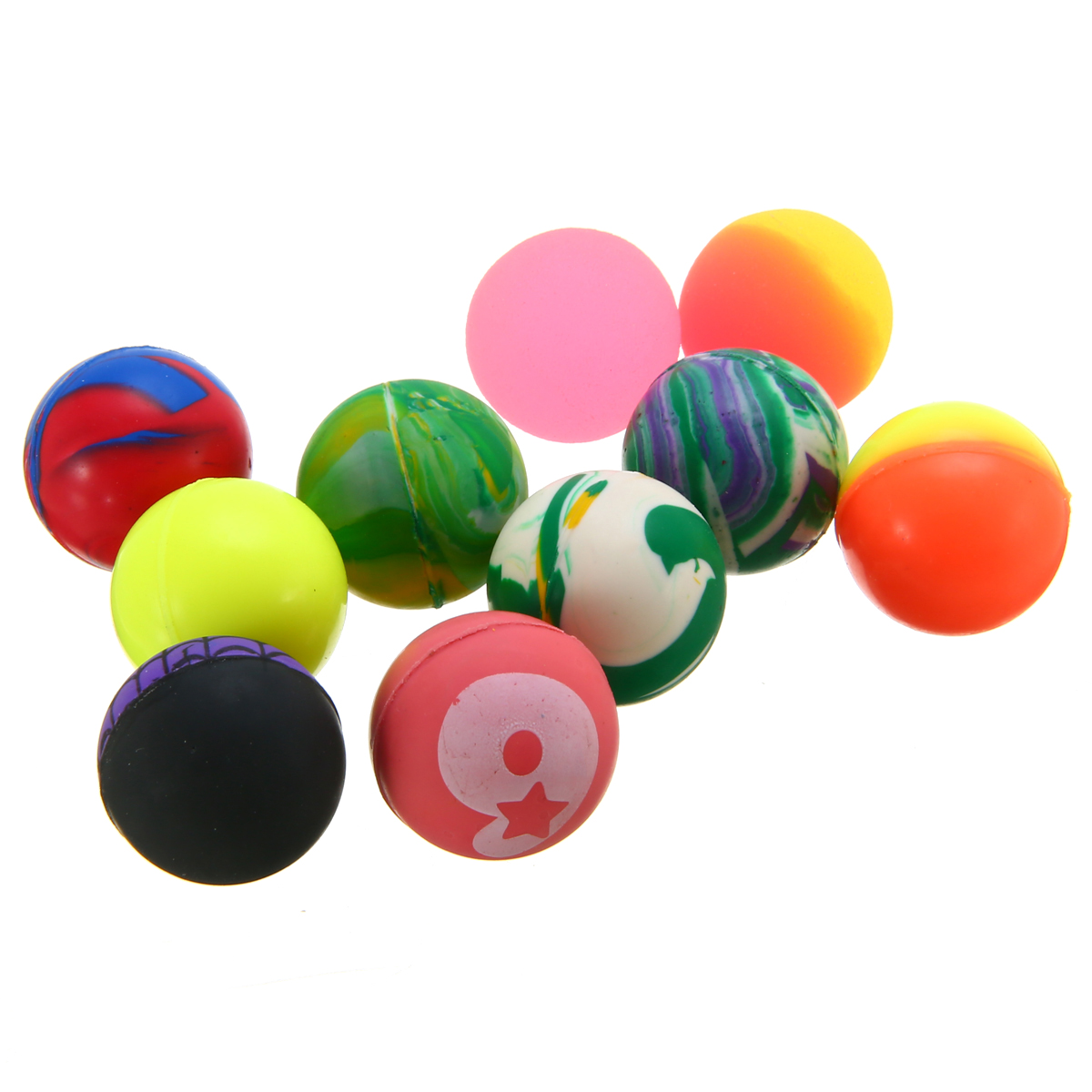 Hot Sale 10pcs 27mm Bouncy Ball Colorful Bouncing Balls Children Birthday Party Loot Bag Toy Filler High quality Gift Toy