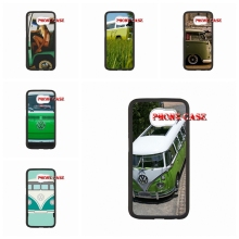 VW Camper Van in Green For iPhone SE 4 4S 5S 5 5C 6 6S Plus LG G2 G3 G4 HTC One M7 M8 iPod Touch 4 5 6 accessories Hard Skin