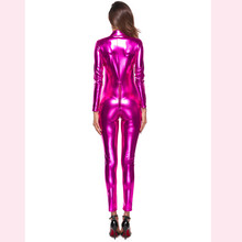 Buy KLV Brand Hot Sale Lingerie Sexy Hot Erotic Women Sexy Zipper lingerie Jumpsuits Clubwear Stripper Leather Underwear