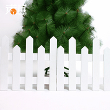 1.2 meters Christmas fence wooden fence white Christmas tree shopping scene layout