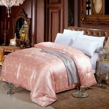 100% mulberry silk quilt 200x230cm orange_pink__red spring quilt high quality Comforter 2.5kg silk quilt