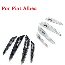 new Car Sticker Scuff WRC Bumper Strip Carbon Fiber Anti Scratch Door Styling for Fiat Albea car styling