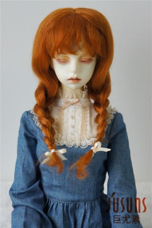 JD2031 1/3 21-23CM mohair BJD doll wigs  8-9inch  Long Lovly Anna braid wig <br>