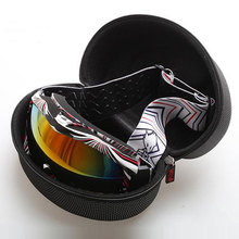 Hot Sale Portable Zipper Hook EVA Shockproof Waterproof Ski Glasses Carrying Case Eyewear Box New