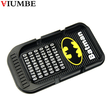 Bat Man Cartoon Car Dashboard Sticky Pad Silica Gel Magic Sticky Pad Holder Anti Slip Mat For Car Mobile Phone Car Accessories(China)