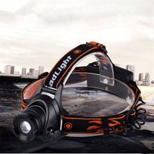 High Quality LED Headlamp Waterproof Headlight 4800LM 3 Mode Zoomable Head Lamp Head Light with 2*18650 Battery Free Shiping