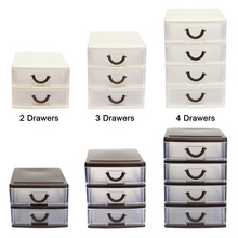 Drawer Durable Plastic Office Table Desktop Debris Cosmetic Drawer Style Holder Storage Box FP8