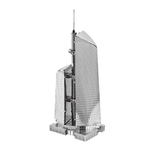 The world famous buildings,3D,DIY,Metal,silver,realistic,federal building Moscow,model,Kid Puzzle,Intelligent Educational Toys(China)