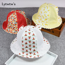 1 Piece Lytwtw's Cute Summer Newborn Baby Hat Girls Boys Breathable Fruit Baseball Cap Infant Cotton Unisex Toddlers Sun(China)
