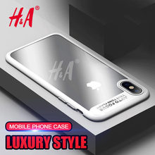 H&A Soft Silicone Transparent Hard Back Cover case For Apple iPhone X Cases For iPhone X Phone Case