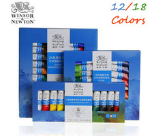 12/18 Colors Professional Winsor&Newton Watercolor Paints Set Artist Hand Painted Tube Drawing Acrylic Painting Art Supplies