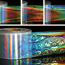 1 Roll Holographic Starry Sky Nail Foils Manicure Laser Nail Art Transfer Sticker DIY Nail Decorations 4*100cm(China)