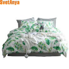 Svetanya 1pc Plants Print Duvet Cover 100 Cotton Quilt Comforter Blanket Bedding Covers single full double queen king size(China)