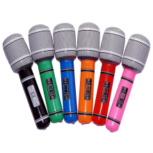 Inflatable Plastic Microphone 24CM for Party Favor Kids Toy Gift - 6pcs (Random Color)(China)