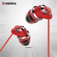 REMAX CNC Metal in-ear Earphone with mic Stereo 9mm Speaker Strong Bass Jelly Silica gel Cable High fidelity for phone