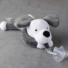 Baby Pacifier Infant Nipple Plush Toys Silicone Soothers Baby Feeding Products Toddler Cuddly Plush Bear Dog Animal Toys Pet D30(China)