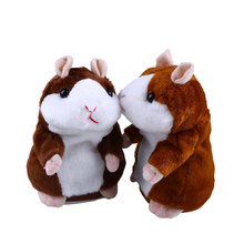 2016 Hot Sale Lovely Talking Hamster Plush Doll Cute Speak Talking Sound Record Hamster Talking Toys for Children