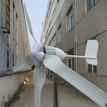 Low rpm wind generator 1000w, max 1200w wind turbine CE approval horizontal wind turbine generator with 5 blades(China)