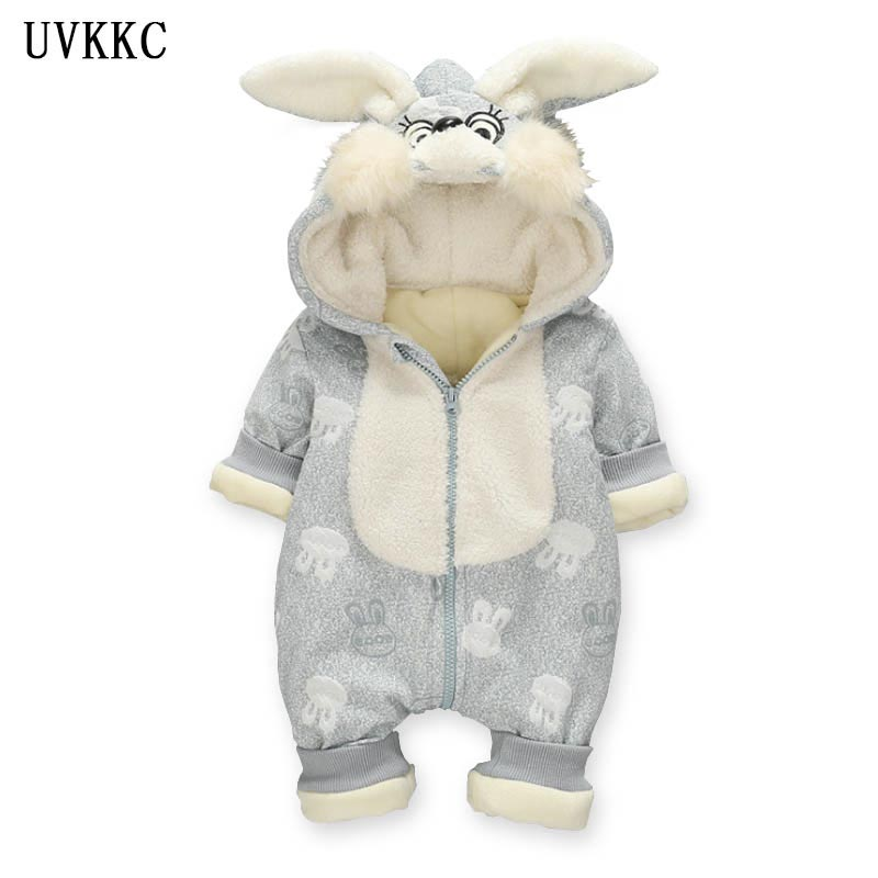 UVKKC High Quality Baby Rompers Winter Rabbit Cotton Boys Costume Girls Warm Clothes Baby Wear Kid Jumpsuit Children Outerwear<br>