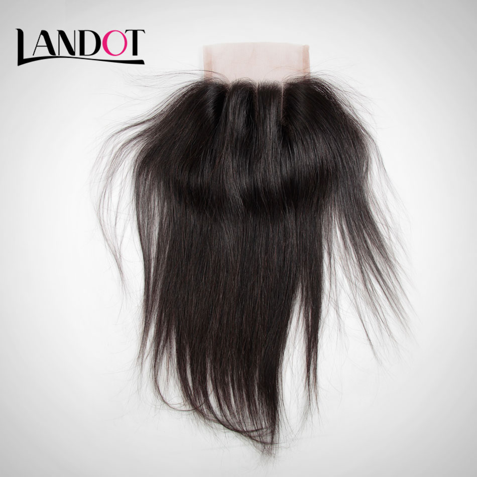 Peruvian Straight Virgin Hair Lace Closure Free Middle 3 Part Closure With Baby Hair Bleached Knots 7A Human Hair Swiss Closures<br><br>Aliexpress