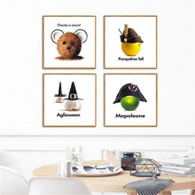 Modern Canvas Prints Art Paint Melamine Sponge Board Canvas Oil Painting Bright Fruits Picture Home Wall Decor Art(China)
