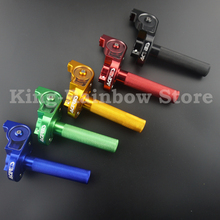New Free shipping Dirt Pit Bike CNC Aluminum Throttle Grips Cable Dirt Pit Bike Fast Throttle Handle Crf 250 K TM 250 450