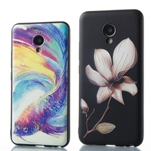 Hot Relief Fundas Coque case For Meizu M5 M5C M5S M3S Mini M3 M6 Note X Pro 6 MX6 Case Silicone Flowers Girls Phone Cases Cover(China)