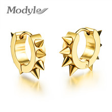 Modyle fashion hiphop small Stud earrings stainless steel punk black ear jewelry for women men accessories(China)